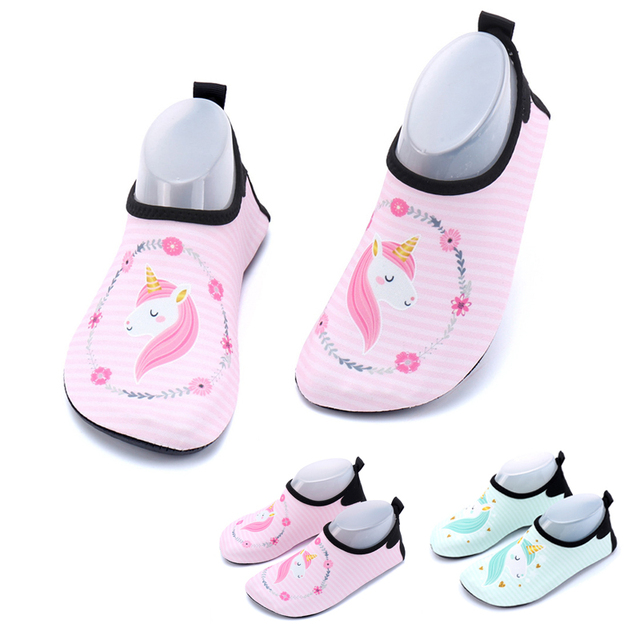 9cdc6b757d30 Unicorn Shoes Children Beach Slippers Kids Water Shoes For Swimming Sea  Toddler Flip Flops Baby Sandals For Girls 22-35