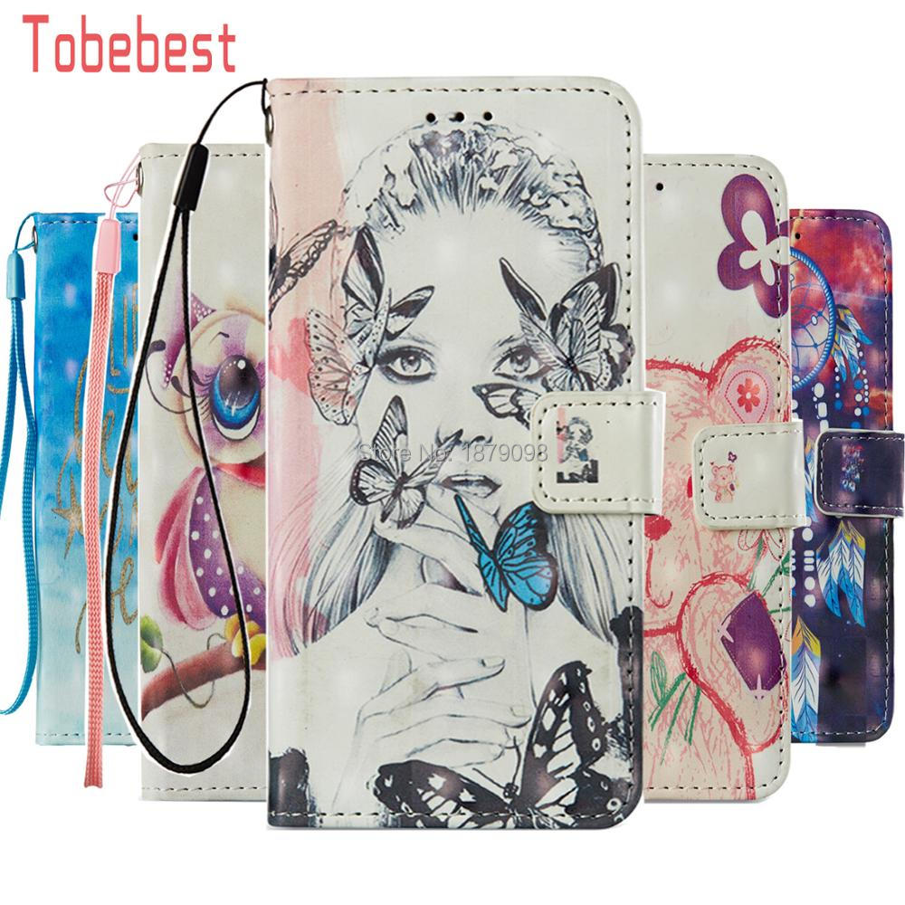 For Redmi 5X PU leather Case For hongmi 5X Dreamcatcher Bear Owl Butterfly Girl 3D Relief Painted Flip Wallet Holster Cover
