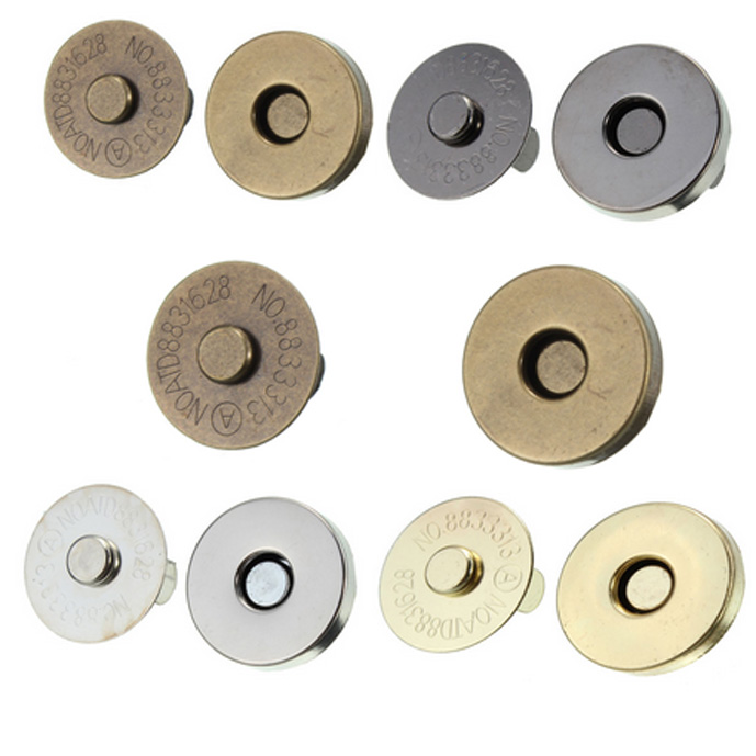 Home & Garden 5set/pack 14mm/18mm Metal Strong Magnetic Snap Fasteners Clasps Buttons For Handbag Purse Wallet Bags Parts Accessories Apparel Sewing & Fabric