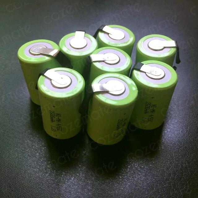 8pcs 1.2v 2500mah 4/5 Subc Sub C Sc Nimh Rechargeable Batteries Sub C 4/5 1.2v Battery Ni-mh Bateria Recargable 4/5sc for 9.6v