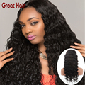 Full Lace Human Hair Wigs For Black Women Peruvian Deep Wave Full Lace Wig Virgin Hair Glueless Lace Front Human Hair Wigs