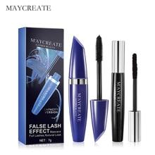 MayCreate Mascara Women Multi-Functional Makeup Length Extension Cosmetic Curling Lengthening Waterproof Black Eye Mascara 1Set