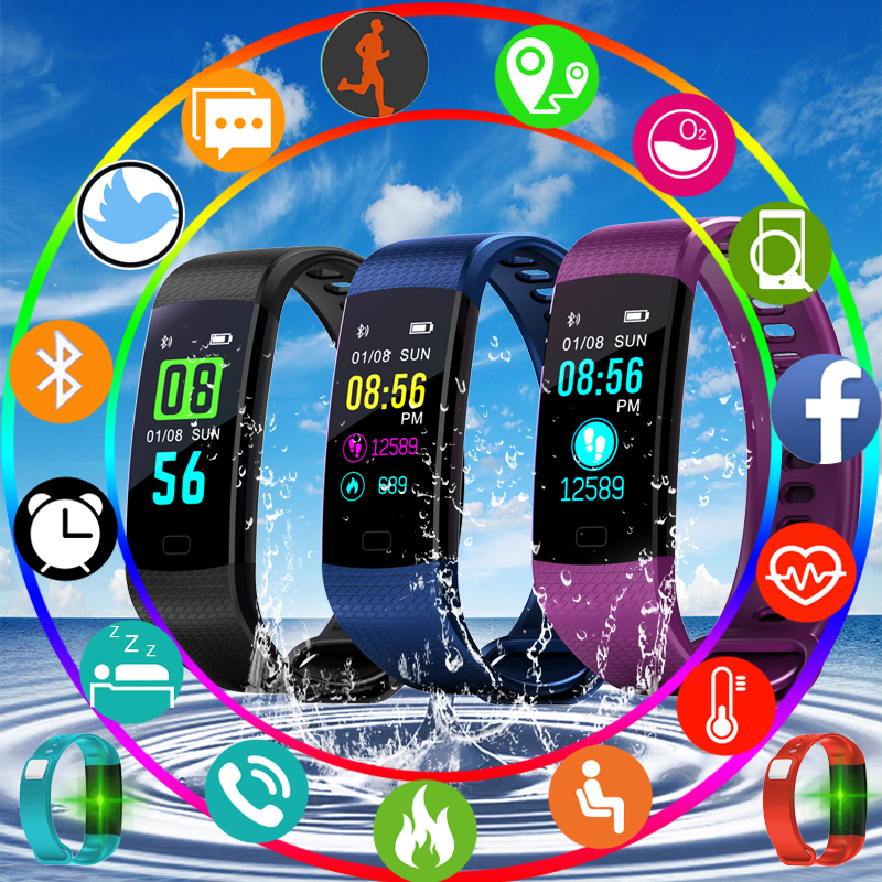 Digital Watches Men's Watches New Bangwei Pedometer Smartwatch Electronic Smart Watch Women Men Running Cycling Climbing Sport Watch Led Color Screen Watch