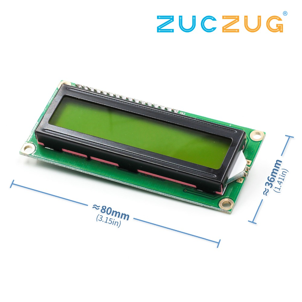 Components New LCD Screen LED Displays LCM Blue Blacklight DC 5V HD44780