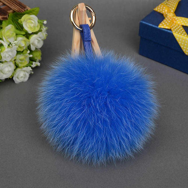 Ms. MinShu Pompons em Naturais Chapéu de Pele De Raposa Bola De Pêlo Grande Raposa Bolas de pêlo para Tampas de Borbotos de Genuína Pele De Raposa Charme Chaveiros para chapéu