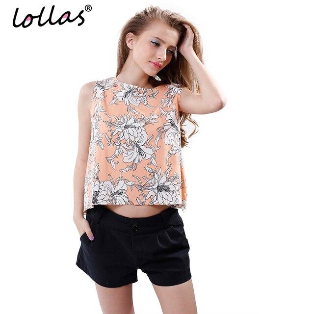 lollas New Fashion Women Girl Camie Casual Chiffon Vest Top Tee Sleeveless Shirt Blouse