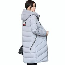 2017 New Fashion big Size Women's winter padded Jacket casual long Thickened Down cotton Coat QH0430