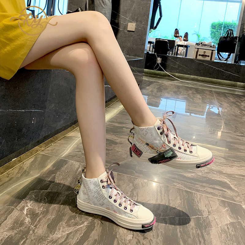 RY-RELAA di modo delle donne scarpe da tennis delle donne 2018 Del Cuoio Genuino di scarpe di lusso delle donne designer INS stile della piattaforma bianco scarpe da tennis delle donne