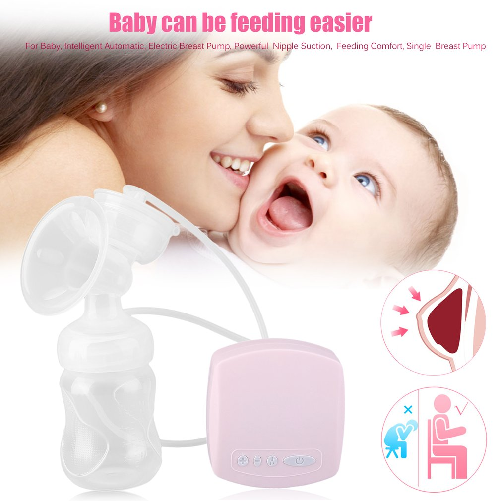 Intelligent Automatic Electric Breast Pumps BPA Free Powerful Infant Nipple Large Suction Milk Pump USB Breast Pump Baby Feeding