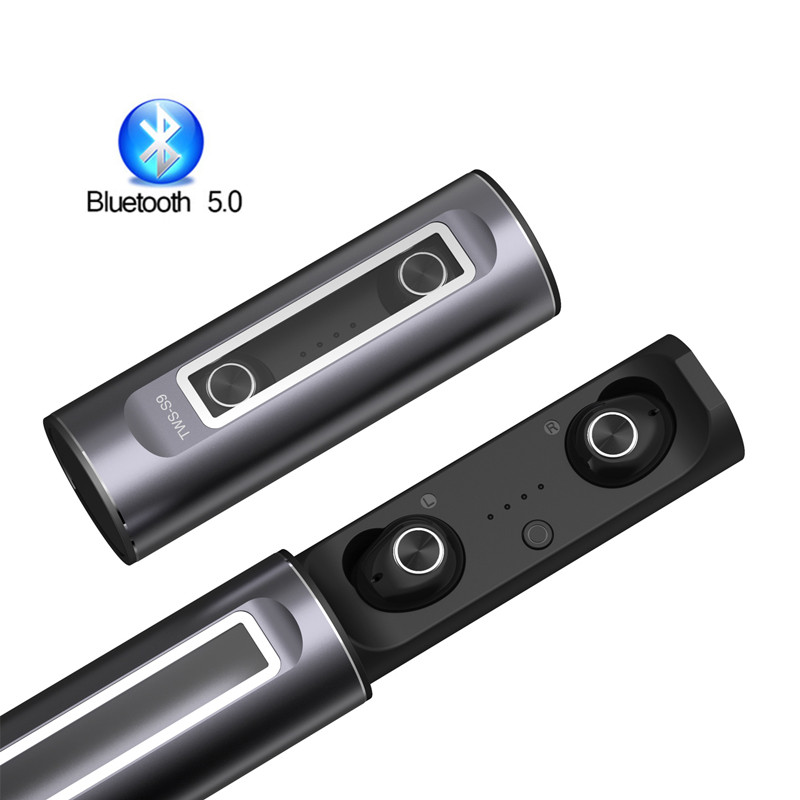 Bluetooth 5.0 Earbuds TWS True Wireless Headsets Sport Stereo Mini Earphones Cordless Headsets In Ear with Charging Box