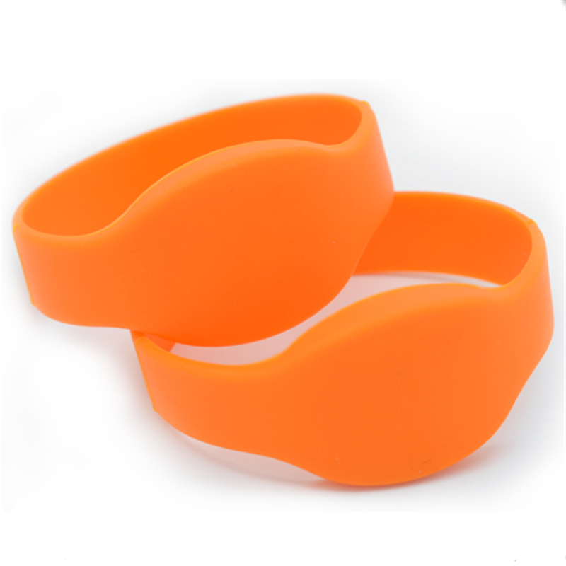 100pcs 125khz Rfid Waterproof Proximity ID Card RFID Wristbands Bracelets And Wristband ID TK4100 Silicone Wristband