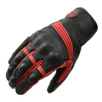 Man Retro Perforated Leather Motorcycle Gloves Cycling Moto Motorbike Protective Gear Motocross Racing Glove