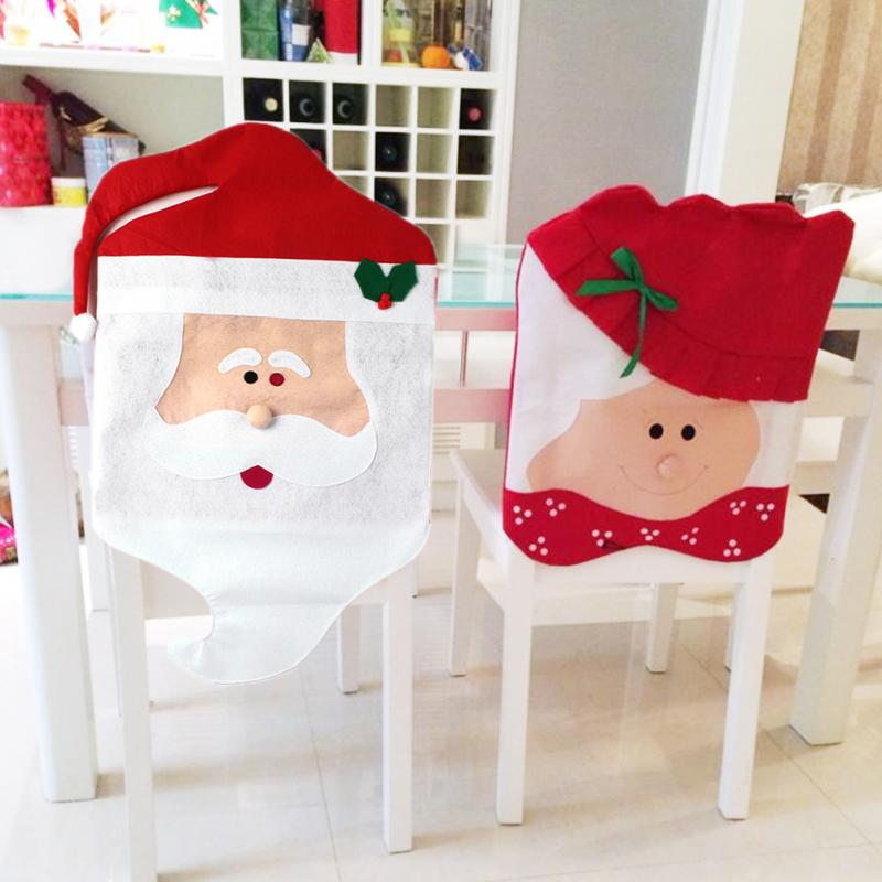 christmas dining room chair covers | 1 Pair Lovely Mr & Mrs Santa Claus Christmas Dining Room ...