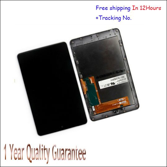 for ASUS Google Nexus 7 1st Gen 2012 ME370T LCD Display Touch Screen Digitizer with Frame bezel Assembly, free shipping! Test Ok brand new for asus google nexus 7 fhd 2nd gen 2013 lcd display screen with touch screen digitizer assembly free shipping