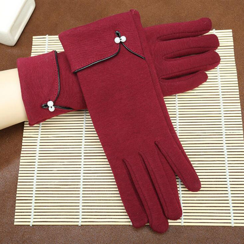 Autumn Winter Fashion Elegant Ladies Full Finger Touch Screen Riding Gloves Women Warm Cashmere Long Gloves Mittens Guantes L47
