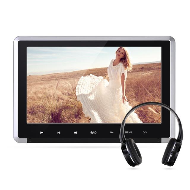 Tela LCD TFT Digital de 10.1 polegada 1024*600 Monitor Do Carro Encosto de Cabeça DVD Player Embutido Hitachi Lens Suporte Porta USB SD HDMI 1080 P