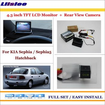 "Liislee For KIA Sephia / Sephia5 Hatchback Car Reverse Rear Camera + 4.3"" LCD Monitor = 2 in 1 Parking System"