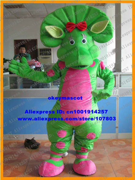 Sweet Yellow Barney BJ Baby Bop Dinosaur Dino Mascot Costume Fancy Dress With Green Triangular Belly : baby bop halloween costume  - Germanpascual.Com