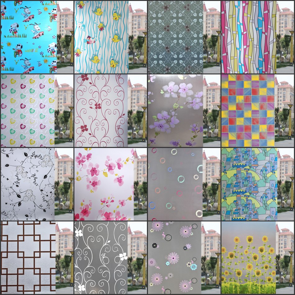 60cm wide 600cm long frosted opaque glass film window stickers bathroom balcony shift gate