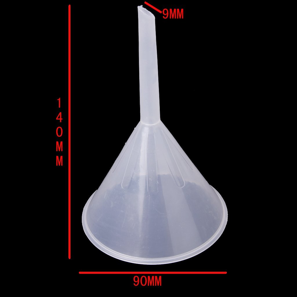 "Affordable 3 1/2"" Mouth Dia Laboratory Clear White Plastic Filter Funnel 90ml"