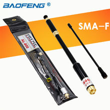 Telescopic Antenna UHF VHF Dual Band SMA-Female AL800 For BAOFENG CB Radio Walkie Talkie UV 5R GT-3 UV-5R UV-82 HYT TC-500(China)