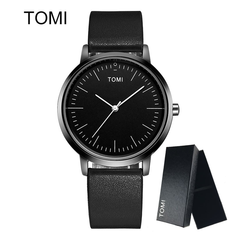 цена на TOMI New Top Brand Luxury Women Watch Men Watches Famous Wristwatch Ultra Thin Dial Male Clock Quartz watch Relogio Masculino