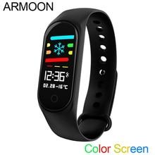Pulseira inteligente M3P IOS Android Monitor de Freqüência Cardíaca Banda Inteligente Sono Rastreador De Fitness Tela Colorida Multi Relógio Esportivo VS mi banda 3