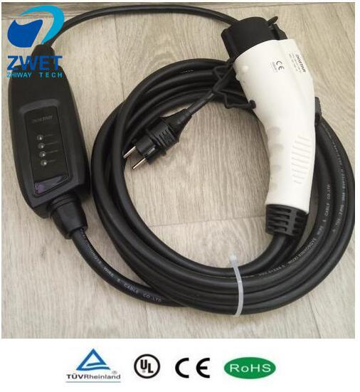J1772 Evse Electric Car Charger Level 2 Ev Type1 Sae Ac120v 250v 16a