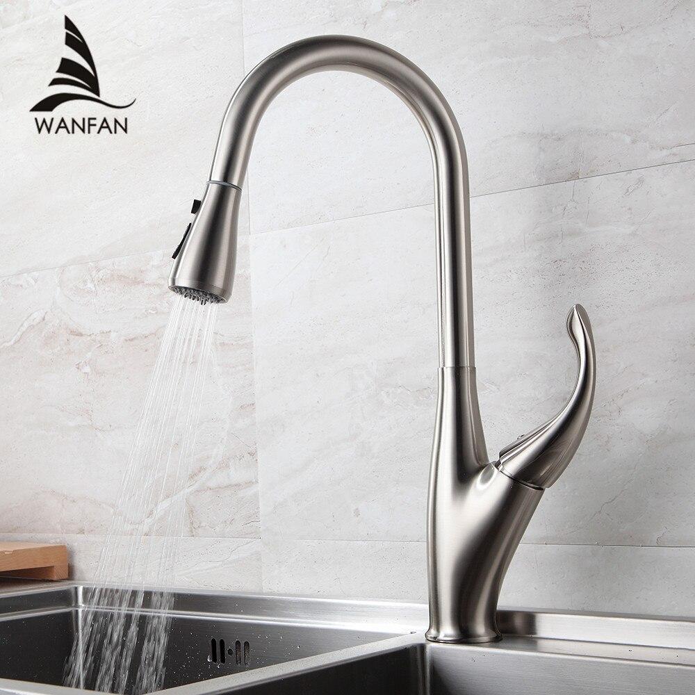 Robinets de cuisine argent poignée unique retirer cuisine robinet monotrou poignée pivotant 360 degrés mélangeur d'eau robinet mélangeur 866001