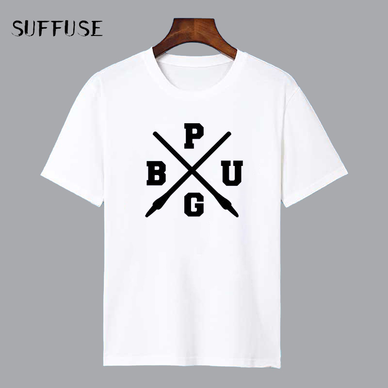 PUBG delle T-Shirt PlayerUnknown Battlegrounds TShirt Game cosplay Camicia Maschile Camicia Casuale Del Bicchierino-manicotto pubg Shirt top