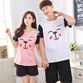 2017 - Cute dog pattern Couples cotton night wear