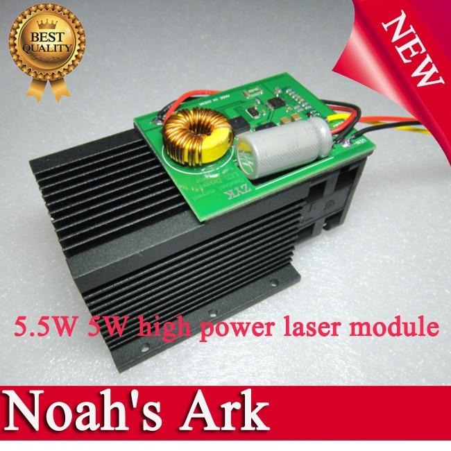 Free shipping!DIY laser engraving 5.5W 5W high power laser module <font><b>Blu</b></font> <font><b>ray</b></font> 12V 450nm engrave <font><b>machine</b></font> use can be customized