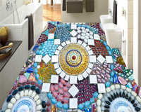 Beibehang Classic Beautiful Papel De Parede 3d Wallpaper Colorful Mosaic Stone Backdrop 3d Flooring Three
