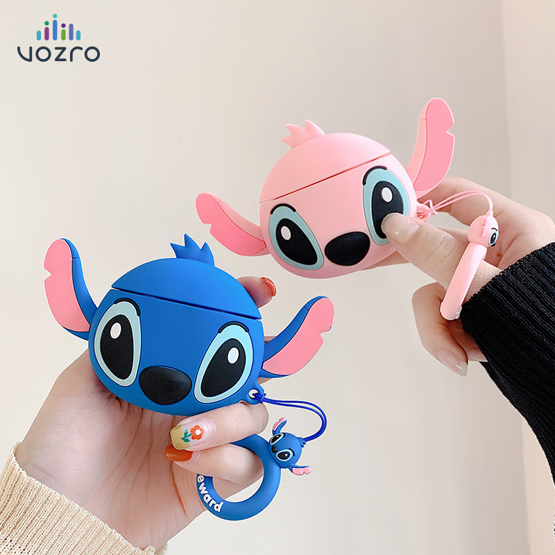 VOZRO Cartoon Wireless Bluetooth Earphone Case For Apple AirPods Silicone Headphones Cases For Airpods 2 Protective Cover