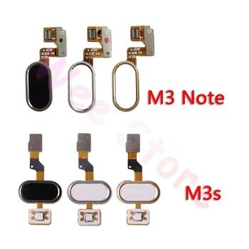 Back Home Button Fingerprint Sensor Flex Cable For Meizu M3 Note M3s Original Phone Repair Parts недорого
