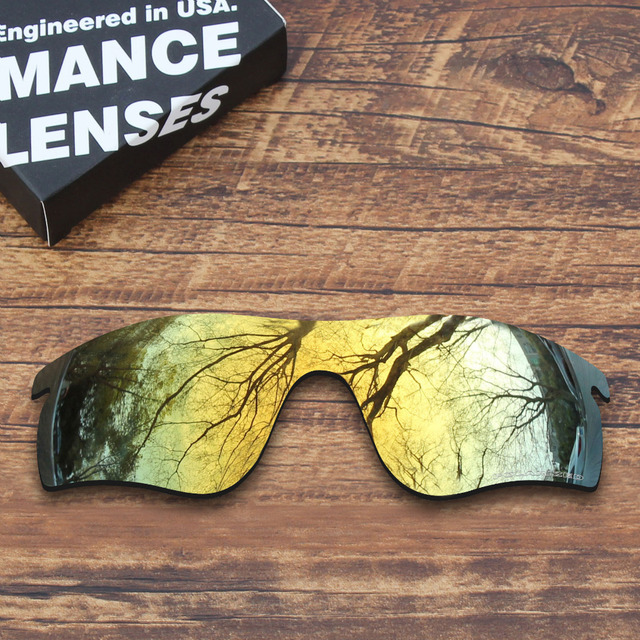 ad3257f00a ToughAsNails Resist Seawater Corrosion Polarized Replacement Lenses for Oakley  RadarLock Path Sunglasses Gold (Lens Only)