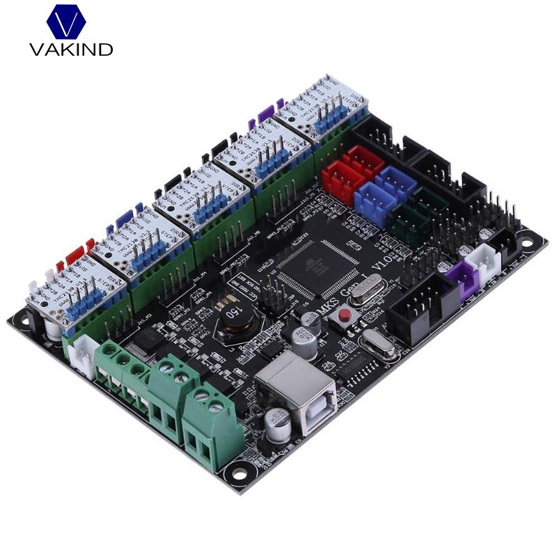 VAKIND MKS Gen V1.0 3D Printer Control Board + 5pcs TMC2130 V1.1 Stepper Motor Drivers For 3D Printer Parts mks gen v1 4 control board mainboard compatible with ramps1 4 mega2560 r3 5pcs tmc2130 v1 0 stepper motor for 3d printer parts