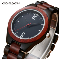 Brand Analog Wood Watch For Men Luxury Natural Bamboo Wooden Mens Watches Gifts Japan Quartz Movt