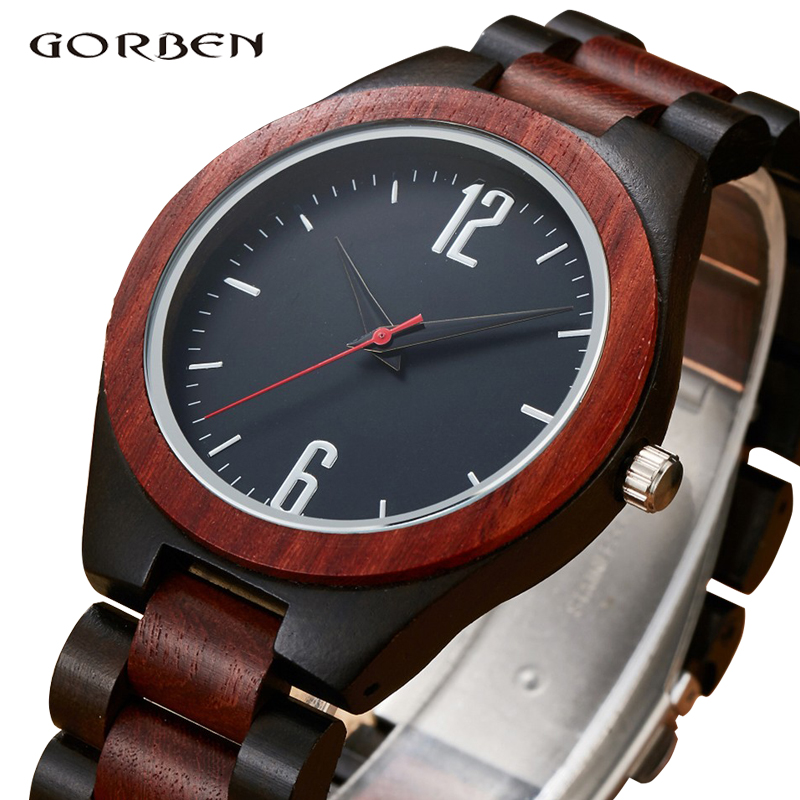 Creative Unique 2018 Wood Watch Men Luxury Natural Bamboo Dress Wooden Watches Japan Quartz Male Clock Relogio Masculino Gifts все цены