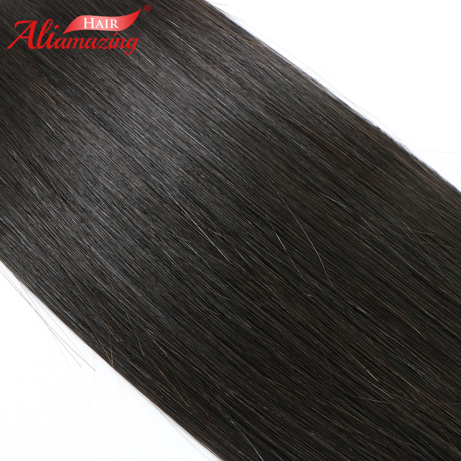 Ali Amazing Hair Peruvian Silky Straight Hair Bundles 1 Piece 100% Remy Human Hair Bundles Extensions Double Weft Free Shipping - 6