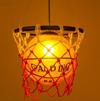 Nordic Retro Creative Personality Fashion Theme Restaurant Bar Counter American Style Art Deco Basketball Chandelier WPL253