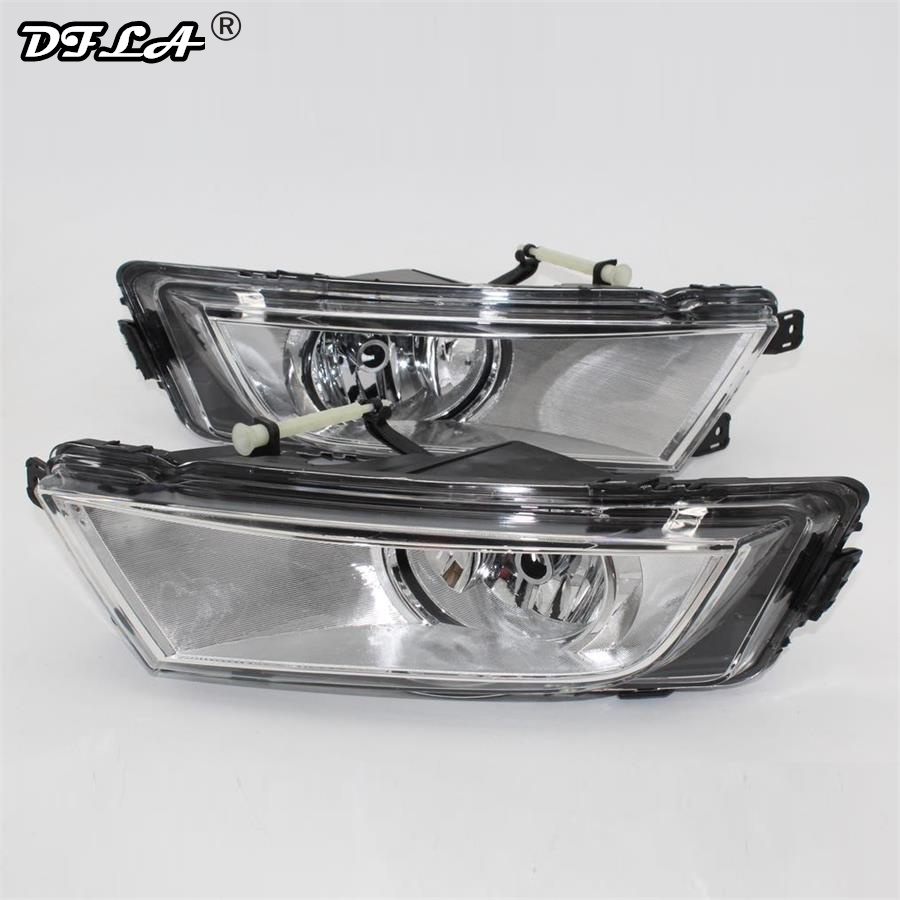 2PCS For Skoda Octavia A7 Sedan Octavia A7 Combi 2013 2014 2015 2016 2017 Car-styling Front Halogen Fog Light Fog Lamp car light car styling for vw polo vento sedan saloon 2011 2012 2013 2014 2015 2016 halogen fog light fog lamp and wire
