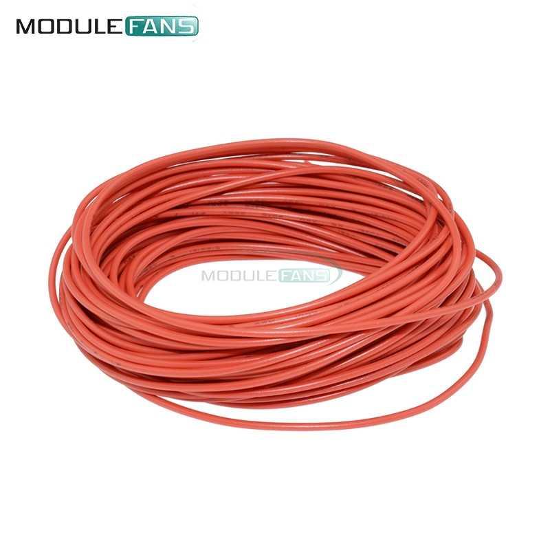 אדום 10 m UL-1007 24AWG חוט למערכת 80C/300 v כבל DIY חשמלי