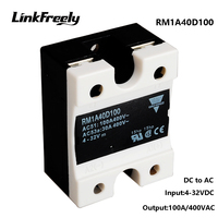 RM1A40D100 5pcs 100A DC AC Solid State Relays,Output:42 440VAC Input:5V 12V 24V DC SSR Relay,PLC Soft Starter Relay Switch Board