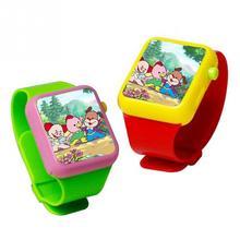 Горячее предложение разные цвета Для детей раннего образования Смарт-часы Обучающая машина 3dtouch Экран электронный Наручные часы игрушка