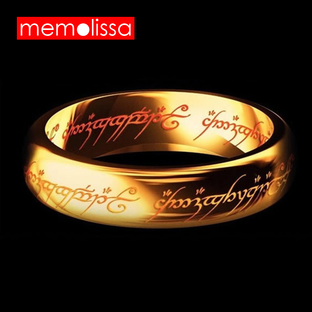 MeMolissa Jewelry Letter Stainless Steel Lord One Men Rings