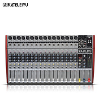 DJ Mixer W6000T16 Professional Mixer Audio Amplifier Sound Processor 16 Channels (16 Effects + USB Playback)