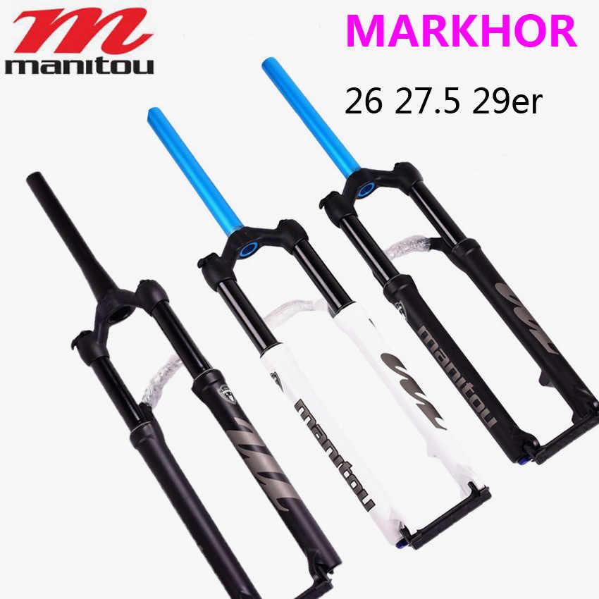 Велосипедная вилка Manitou MARKHOR M30, новая модель, вилка 27,5, 29, конусная трубка, матовые черные воздушные вилки для горного велосипеда, MTB, передняя вилка, подвеска