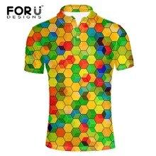 FORUDESIGNS Mens Plus Shirts Brands Spandex Short Sleeve Elasticity Male Polo Shirt Man Brands Clothes Fashion Summer 2018 XXXL