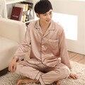 Couple Pajama Sets Silk Pajamas Loungewear Spring Long Sleeve pajama Satin Pajamas Set Christmas Gift L-3XL Suit Champagne